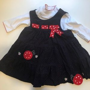 12M lady bug dress, NWT